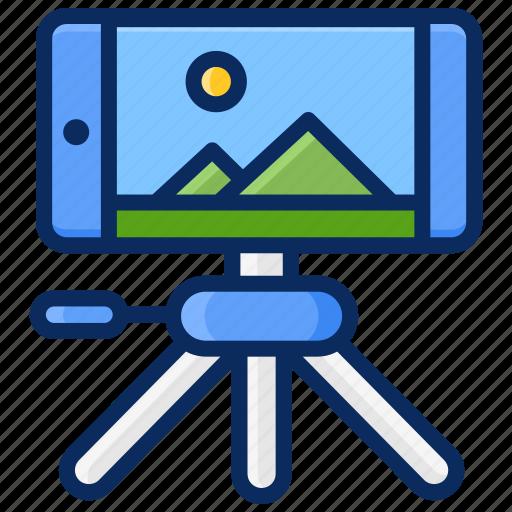 camera, phone photography, photography, smartphone, taking photo, tripod icon
