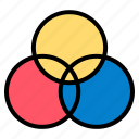 cmyk, color, rgb, wheel icon