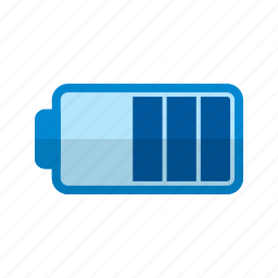 battery, energy, graphic, half, low, power, sign icon