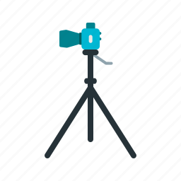 camera, digital, equipment, photography, stand, tripod, video icon