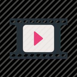 camera, entertainment, film, movie, reel, roll, video icon