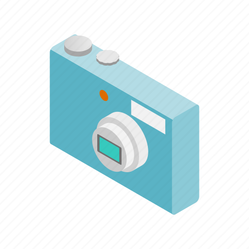 camera, digital, equipment, isometric, lens, photography, technology icon