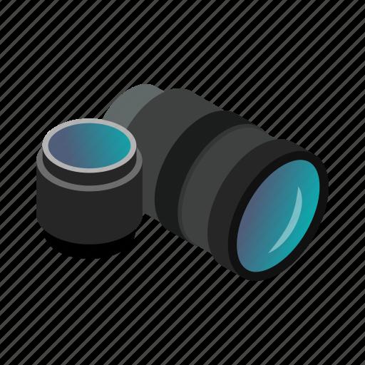 camera, equipment, hobby, isometric, lens, photo, zoom icon