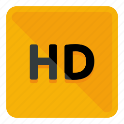 cinema, hd, high definition, movie, quality, resolution, video icon