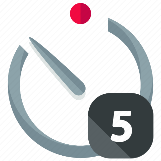 five, timer icon