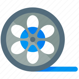 movie, roll icon