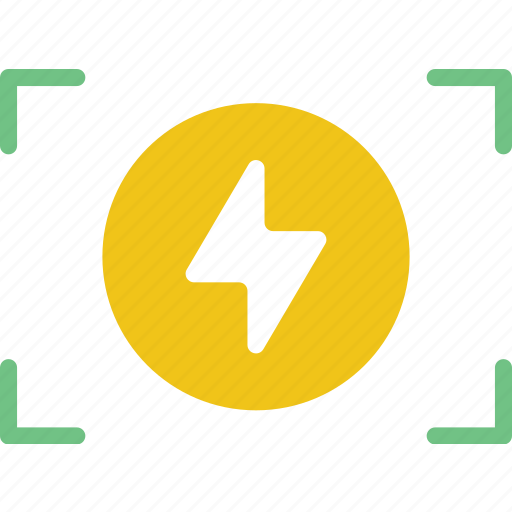flash, on, photography, record, video icon
