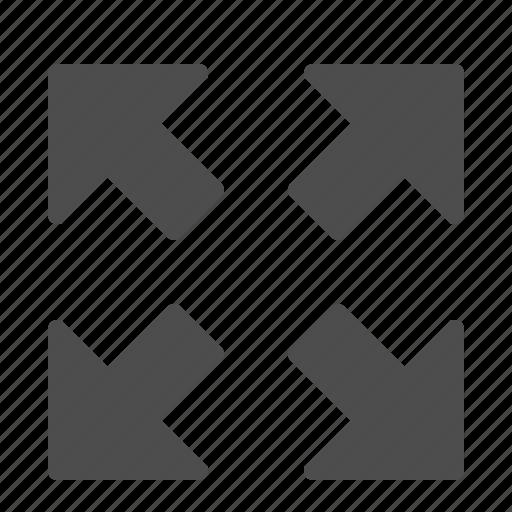 arrows, enlarge, full screen, fullscreen, photo, photography, zoom icon
