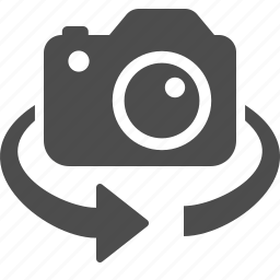 camera, invert, photo, photography, rotate, switch icon