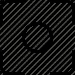 center, focus, image, photo, target icon