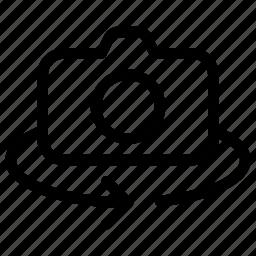 camera, film, image, photo, rotate icon