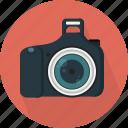camera, digital, dslr, flash