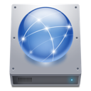 hdd, network icon