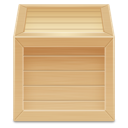 box, inventory, wood icon