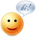 chat, cute, hello, hi icon