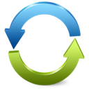 arrows, blue, green, refresh, reload icon
