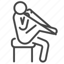 leg, physical, physiology, recovery, stretching, therapist, therapy icon