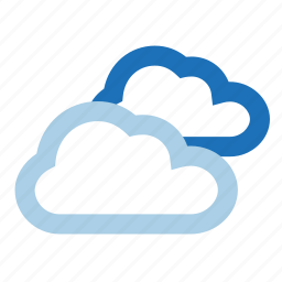 clouds, cloudy, heavy, weather icon