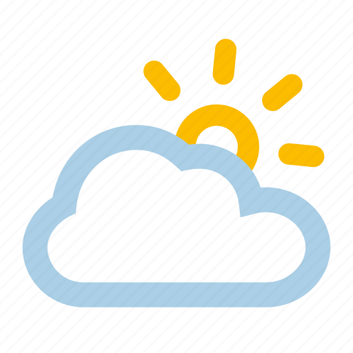breaks, clouds, cloudy, sun, sunny, weather icon