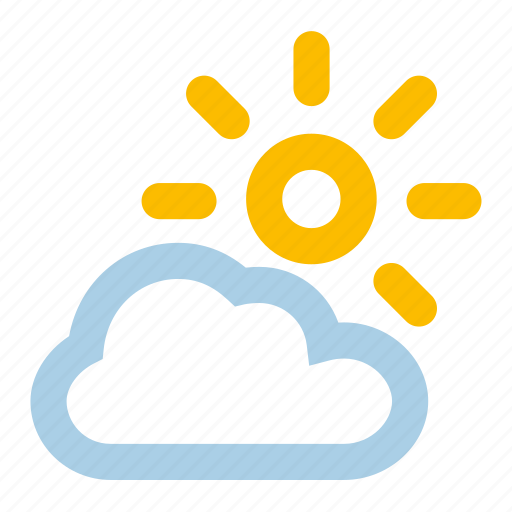 clouds, cloudy, few, variable, weather icon
