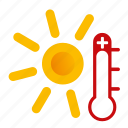 hot, sunny, weather icon