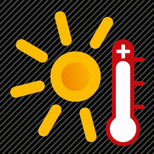 hot, sunny, weather icon