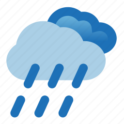 cloud, drizzle, heavy, rain, storm, weather icon