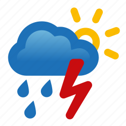 chance, cloud, rain, storm, thunderstorm, weather icon