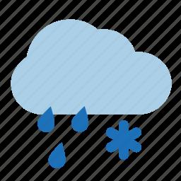 cloud, rain, snow, storm, weather, wet icon