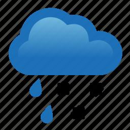 cloud, hail, rain, storm, weather icon