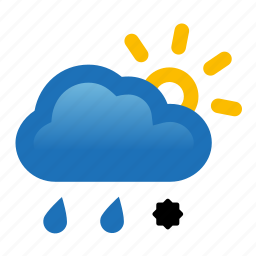 cloud, hail, rain, sun, sunny, thunderstorm, weather icon