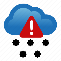 alert, attention, hail, storm, warning icon