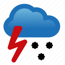 hail, lightning, storm, thunderstorm, weather icon