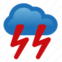 heavy, lightning, rain, storm, thunderstorm, weather icon