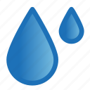 drops, forecast, rain, umbrella, weather icon