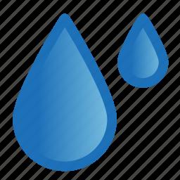 drops, forecast, rain, umbrella, weather icon