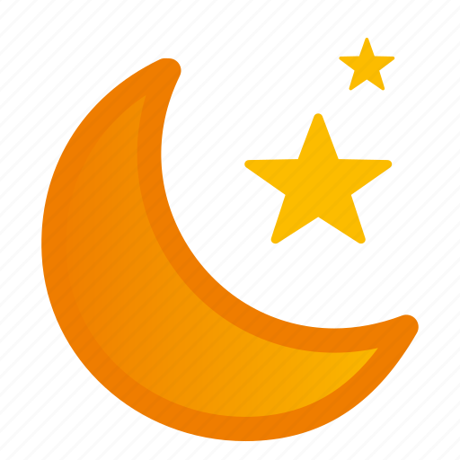 clear, moon, night, stars, weather icon