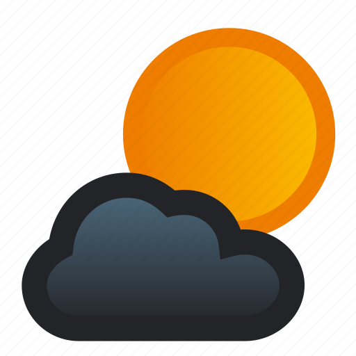 clouds, cloudy, full, moon, night, weather icon