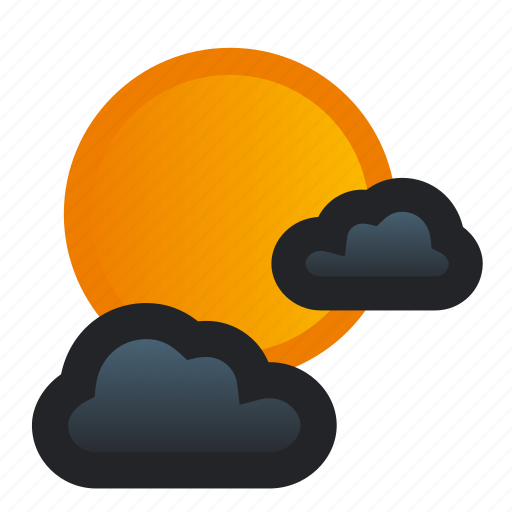 clouds, cloudy, full, mainly, moon, night, weather icon