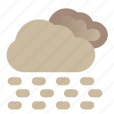 desert, storm, thunderstorm, weather icon