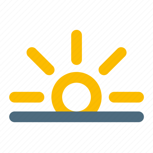 rise, sun, weather icon