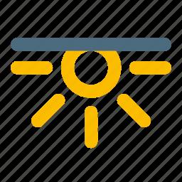 set, sun, weather icon