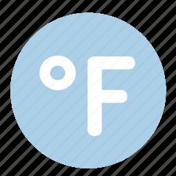 cold, fahrenheit, temperature, thermometer, weather icon