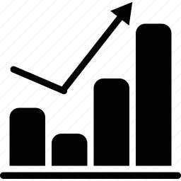 bar, chart, graph, up icon