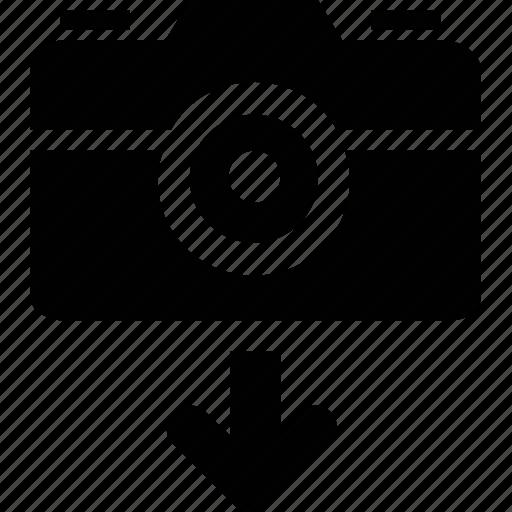 camera, download icon