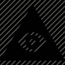 eye, pyramid icon