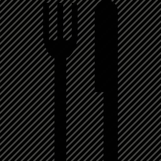 fork, knife, utensils icon