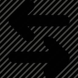 arrow, exchange, left icon