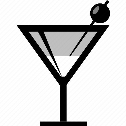 drink, martini icon