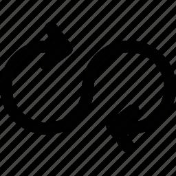 infinite, loop, repeat icon